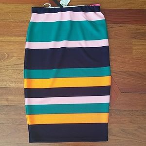 Striped pencil skirt NWT